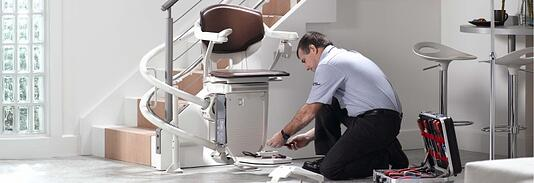 Stannah 260 curved stair lift service