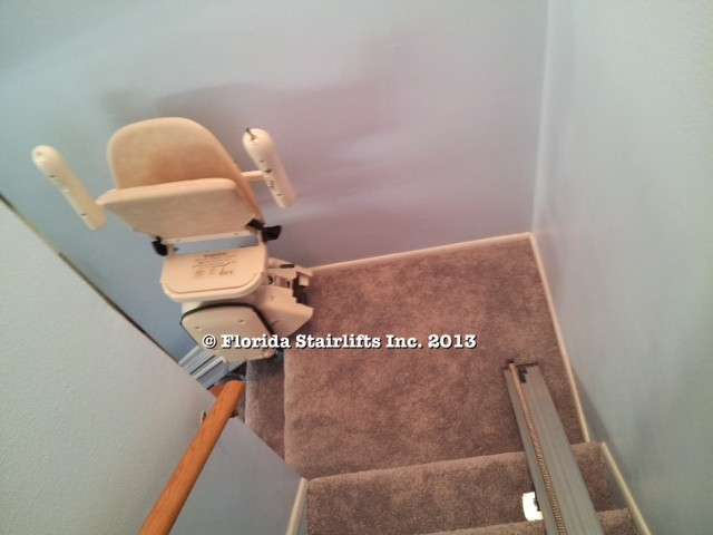 Sometimes two straight stairlifts suit a user s need better than a custom curving stair lift