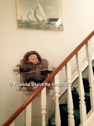 Florida stairlifts are childs play. My great nephew glides like a prince