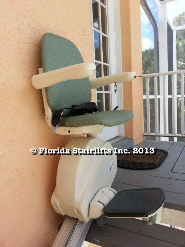 MediTek also makes a great outdoor stairlift that will stand up to the weather