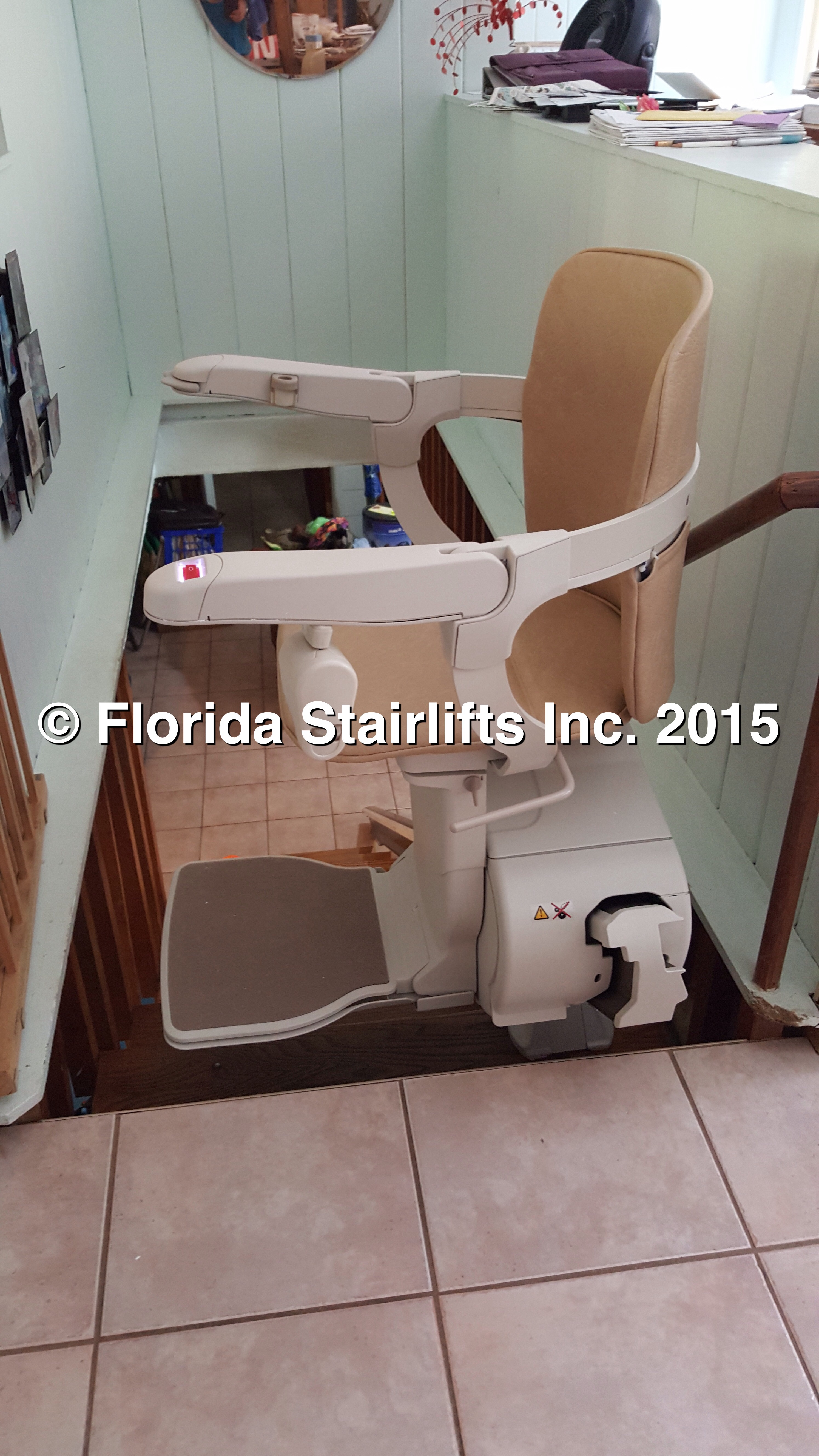 600 Model Stannah Stairlift ready to ride
